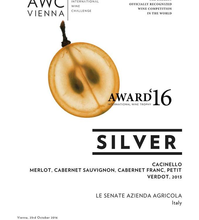 Certificato Austrian Wine Challenge Silver